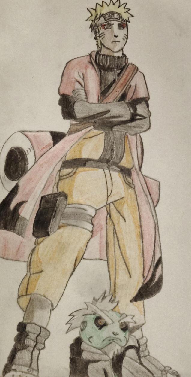 Naruto and Fukasaku by graeme94
