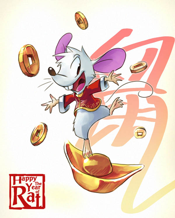 Happy The Year of Rat by aun61