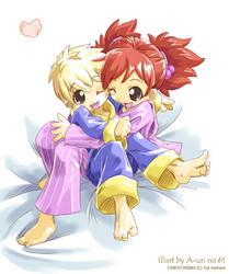 Misaki and Neo by aun61