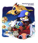 Klonoa on floating Mu