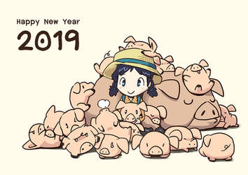 2019, Year of The Pig by aun61