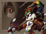 Raccoon Warrior