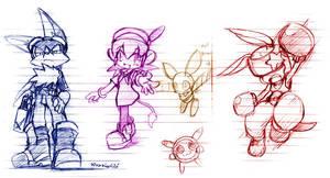 Klonoa's Friends.. sort of by aun61