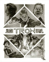 Tron Movie Poster by Randy-man