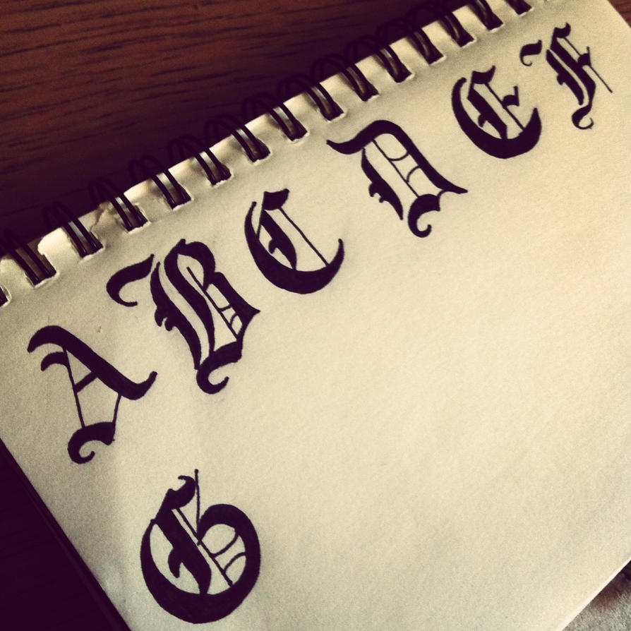 Gothic calligraphy by arosic on deviantart