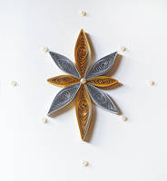 Quilled Christmas card - star by DressToQuill