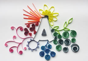 Quilled Letter 'A' by DressToQuill