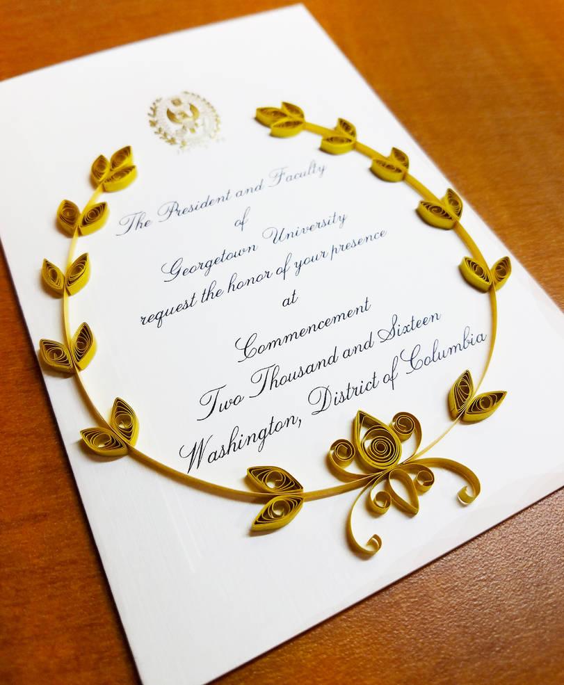 Graduation invitation by DressToQuill