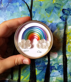 Paper Quilled Art: 'Rainbow'