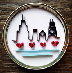 Paper quilled art: 'Chicago'
