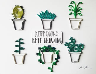 Paper Quilling Art: Keep Going Keep Growing