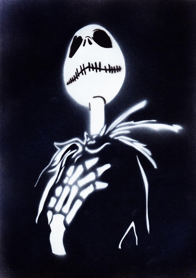 Nightmare Before Christmas Stencil - Christmas Cards