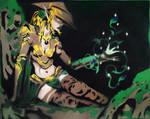 Yavimaya Enchantress by Ali-Radicali