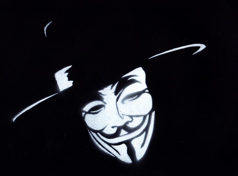 V For Vendetta Mask Stencil based on this v