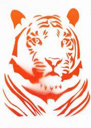 White Tiger Tribal by Ali-Radicali
