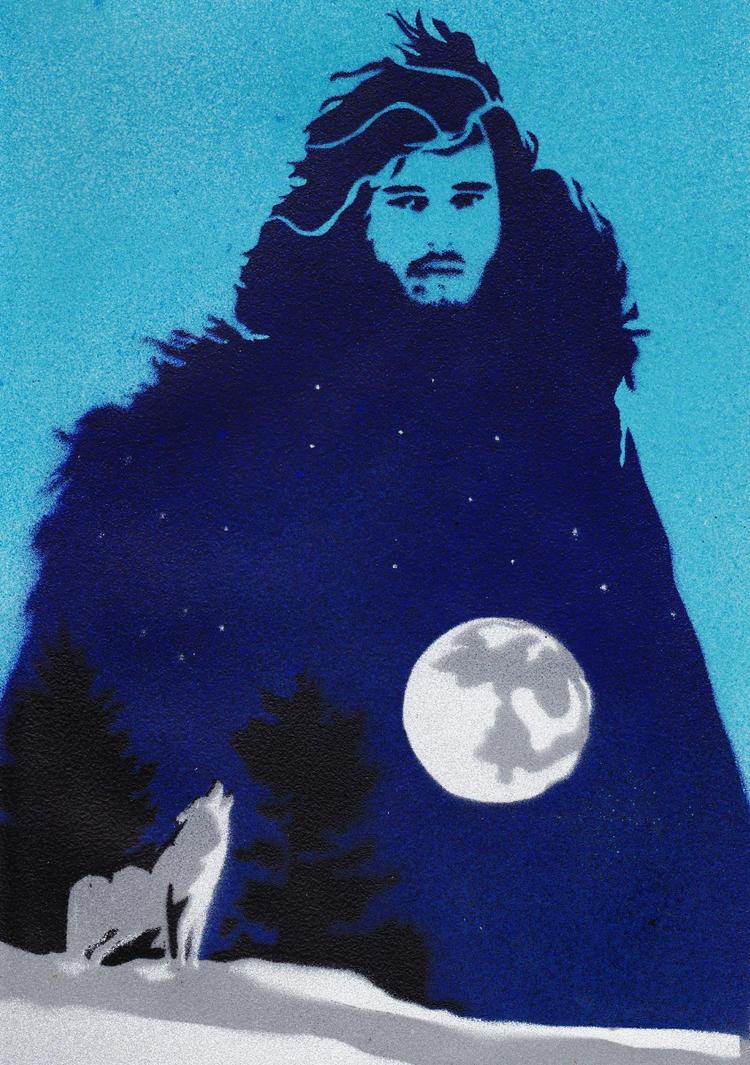 Jon Snow, the Warg of Winterfell by Ali-Radicali