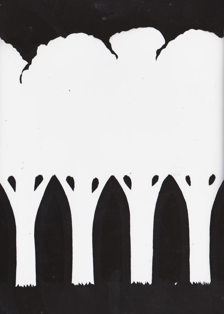 Treeline Photogram 1 by Ali-Radicali