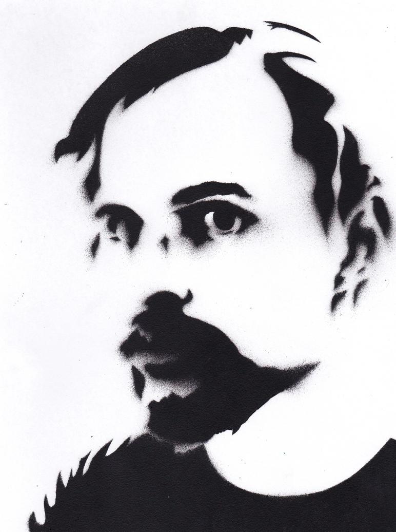 Self Portrait Stencil by Ali-Radicali