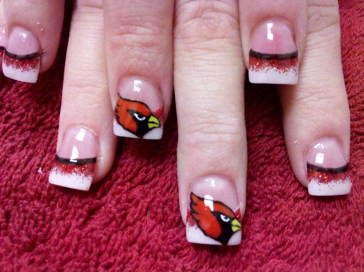 Arizona Cardinals Nail Art By Dignifieddoll On Deviantart