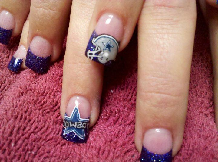 Dallas Cowboys Acrylic Nails Designs - Nailartdesignsidea.info via