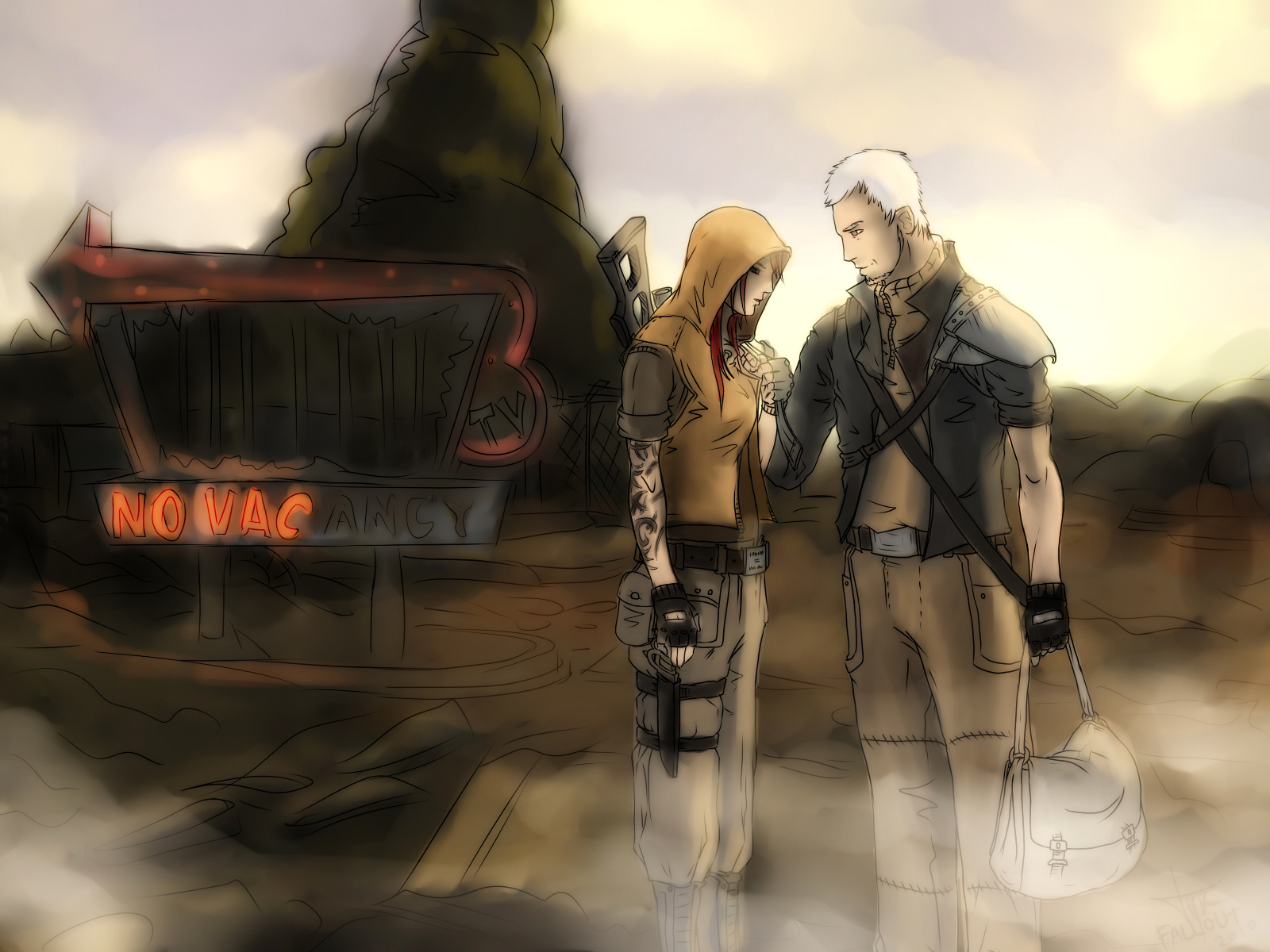 Fallout 3 Anime Characters : Fallout novac art by silena tok on deviantart