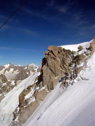 Aguille Du Midi Snow Field by iainhallam