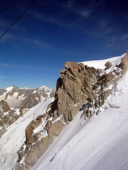 Aguille Du Midi Snow Field