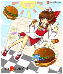 Reimu Burger by kata-009