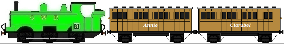 duck pulling annie and clarabel by masterpeace23 on deviantart. Black Bedroom Furniture Sets. Home Design Ideas