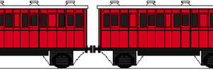 Percy and the Red Branch Line Coaches