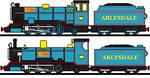 Bert The Miniature Blue Engine