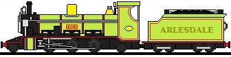 Jock The Miniature Greenish Yellow Engine