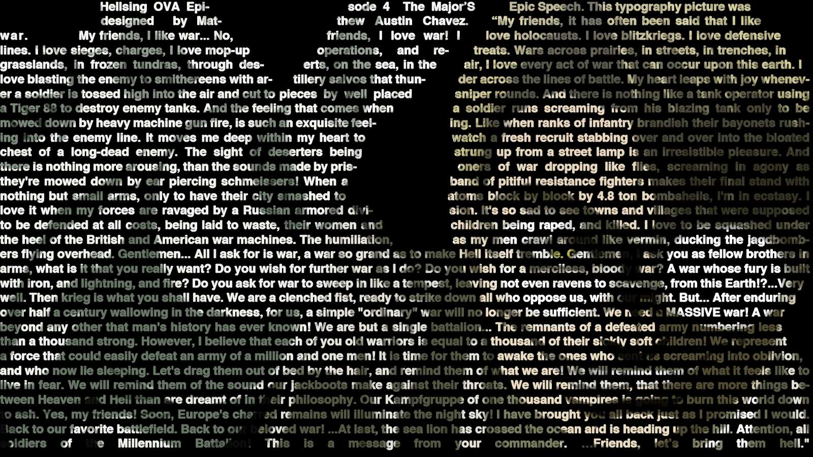 the major typography by cosmicmoonshine on deviantart