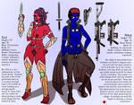 Nikal and Siril: Character Profiles by 00gojiramon