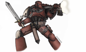Assault Space Marine of Blood Raven chapter