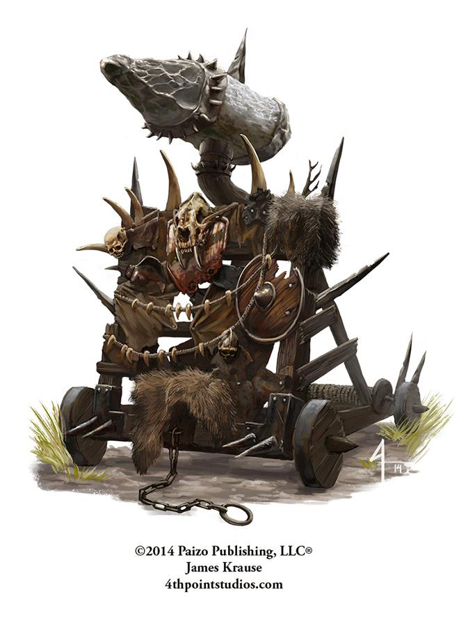 Orc Siege Engine by JamesJKrause