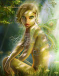 Elf in wood