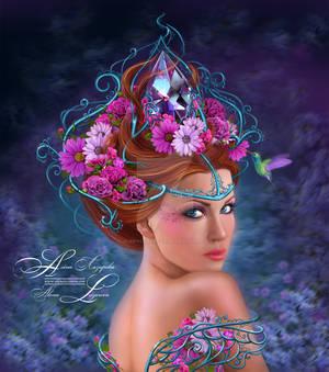 Flower queen. Stock illustration