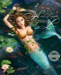 Beautiful Mermaid In Lake With Lilies