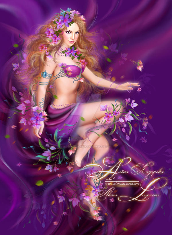 Fantasy beauty, woman in flowers by AlenaLazareva