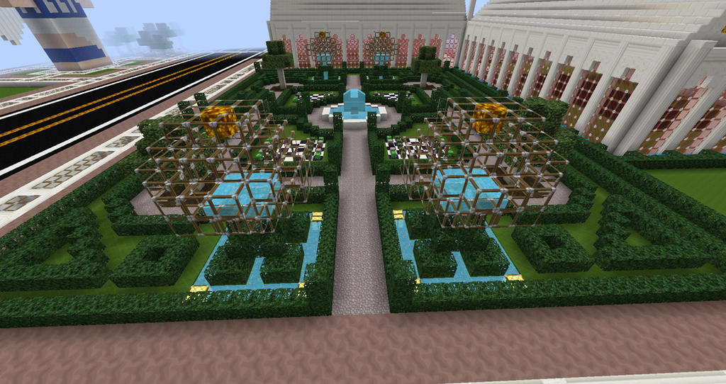 Heart Palace Minecraft Build English Garden by sinjun2501 on ...