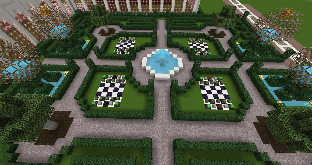 heart palace minecraft build english garden 2 by sinjun2501