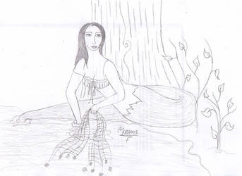 Snake Woman Fishing