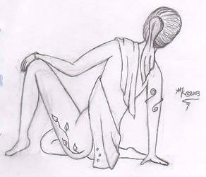 Temple Dancer Resting