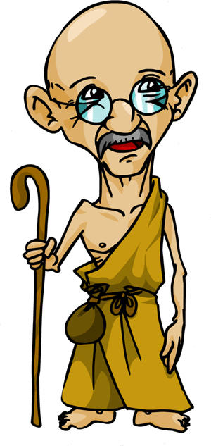 Gandhi by samuka