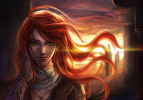 Flaming Red by RedPear