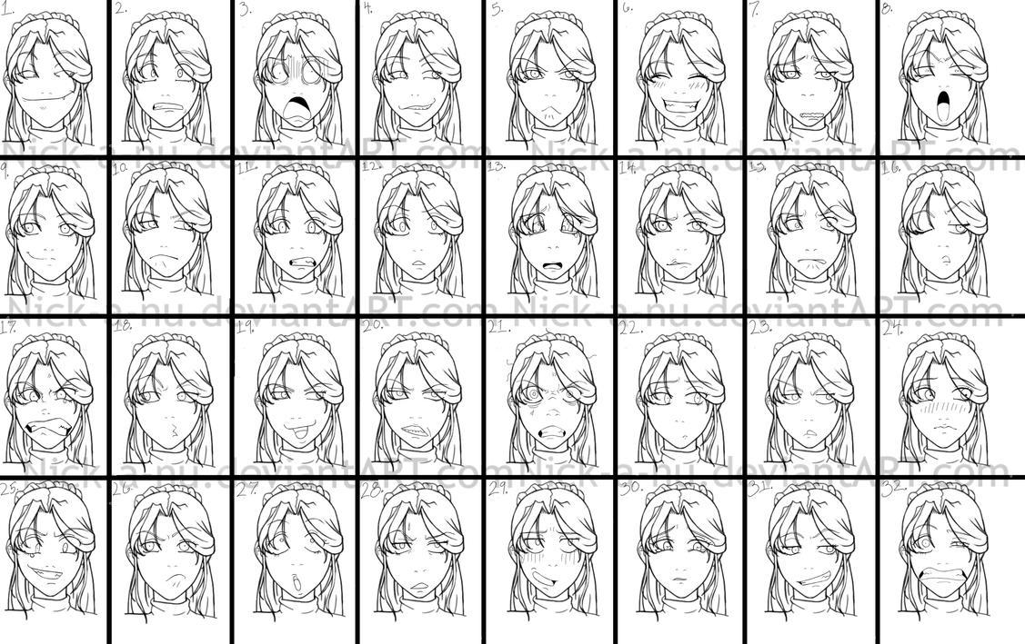 expression anime facial