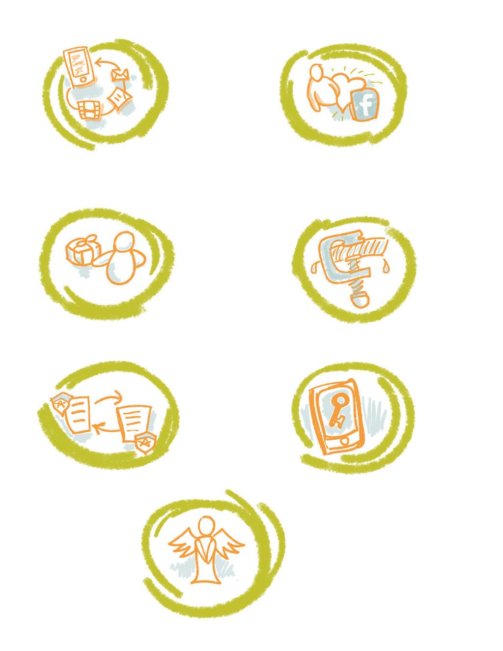 7 Things-jpeg simple icons by versonova