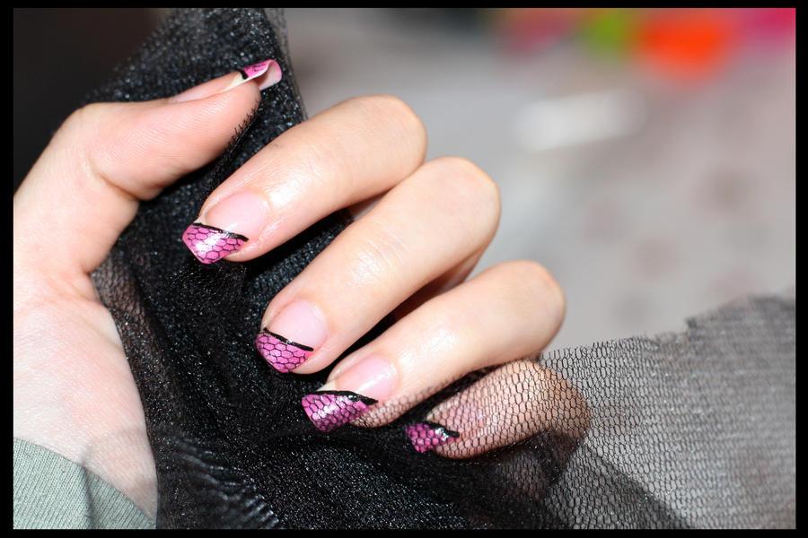 tulle - nail art by borntosparkle on DeviantArt