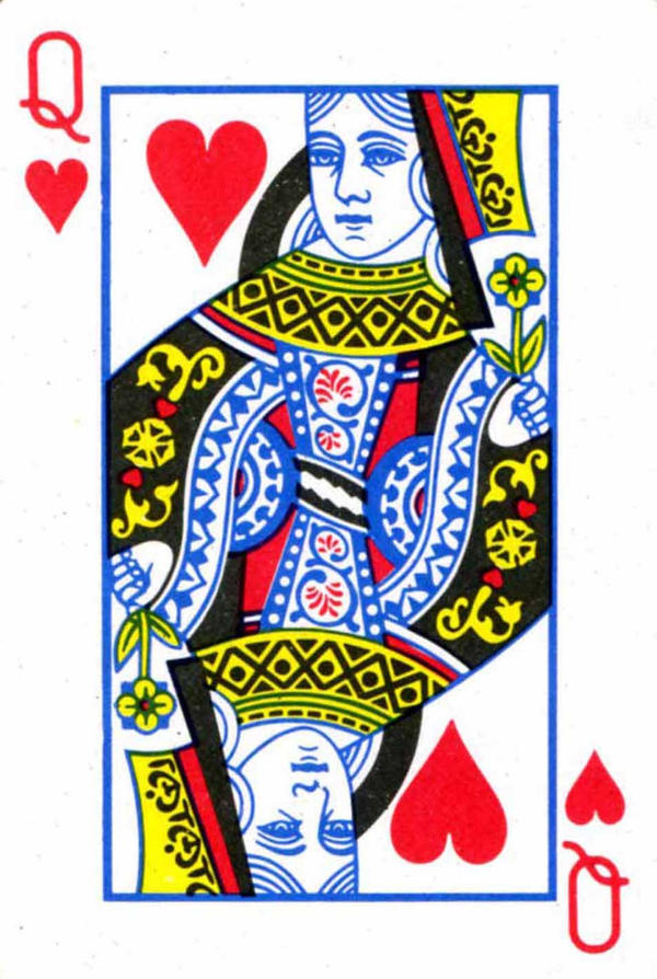 Playing Card Art The Queen Of Hearts By Roger Xavier
